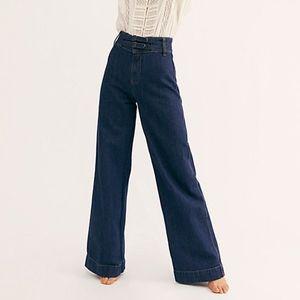 Free People BIG BELLS Wide Leg Jean 25 NWT 70svibe